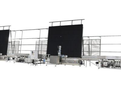 Linie kompletne – krawędziarki pionowe z systemem automatycznego obrócenia szkła